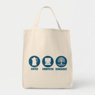 Coffee Computer Genealogy Bag