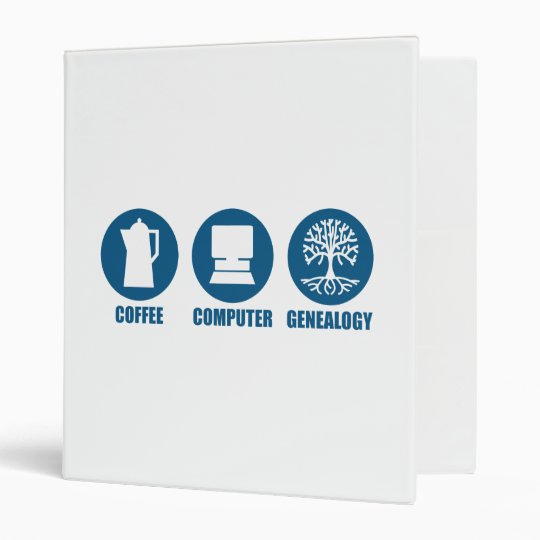 Coffee Computer Genealogy Binder