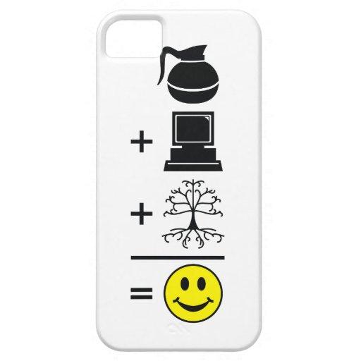 Coffee Computer Genealogy Happy iPhone 5/5S Case