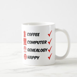 Coffee Computer Genealogy Happy Coffee Mug