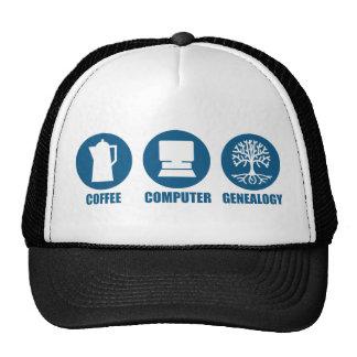 Coffee Computer Genealogy Hat