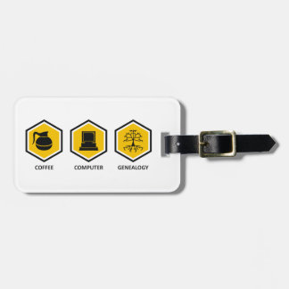 Coffee Computer Genealogy Tags For Luggage