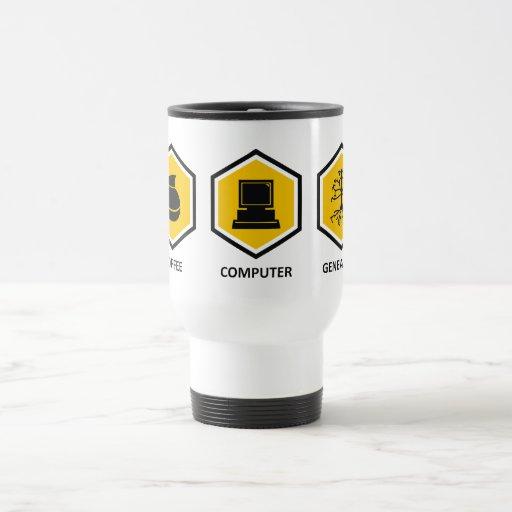 Coffee Computer Genealogy 15 Oz Stainless Steel Travel Mug