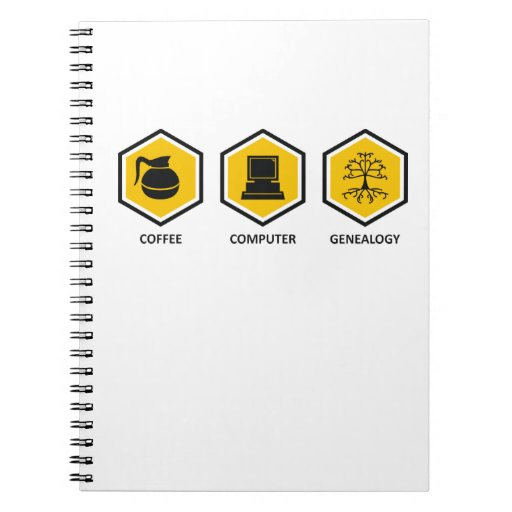 Coffee Computer Genealogy Notebooks