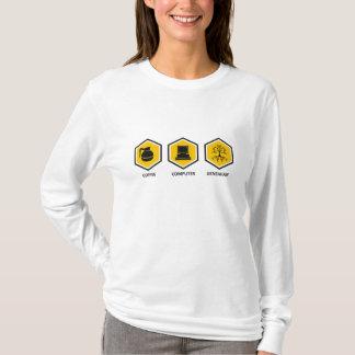 Coffee Computer Genealogy T-Shirt