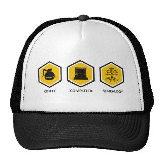 Coffee Computer Genealogy Trucker Hat