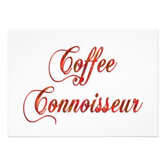 Coffee Connoisseur Personalized Invites