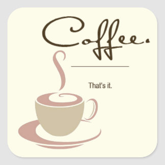 Coffee Connoisseur Stickers