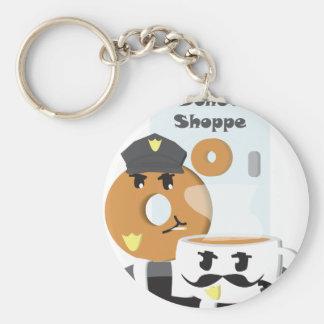 Coffee Cop Basic Round Button Keychain