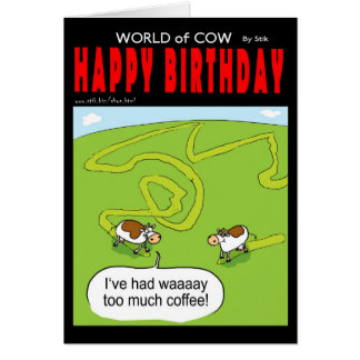 Coffee Cow Greeting Cards