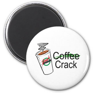 Coffee Crack Coffee Cup Refrigerator Magnets