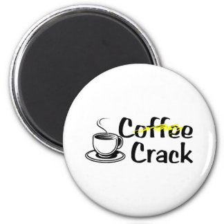 Coffee Crack Refrigerator Magnets