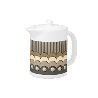 Coffee Cream Chocolate Teapot
