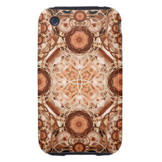 Coffee & Cream Mandala iPhone 3 Tough Cover
