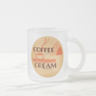 Coffee Cream :: Retro Dairy Milk Bottle Cap Frosted Glass Coffee Mug