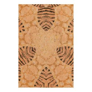Coffee Cream Zebra Abstract Photo Cork Paper