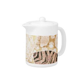 Coffee Cream Zebra Abstract