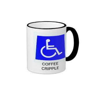 COFFEE CRIPPLE RINGER COFFEE MUG