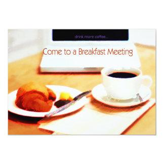 Coffee, Croissant & Computer Breakfast Meeting Card