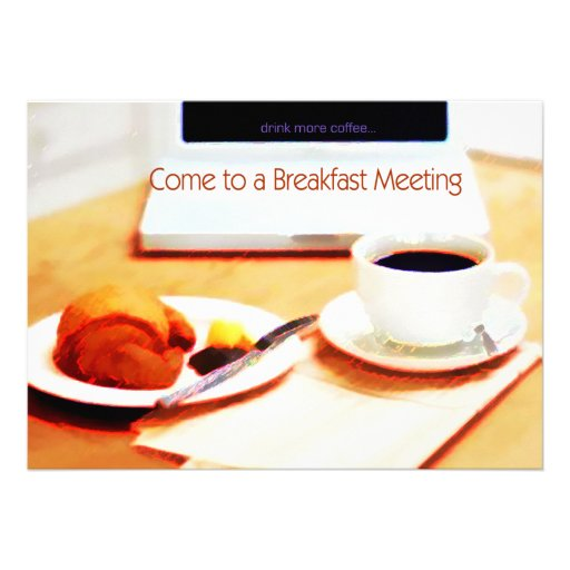 business breakfast meeting invitations | just b.CAUSE