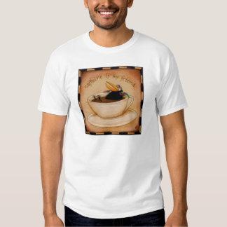 Coffee crow funny tee shirt