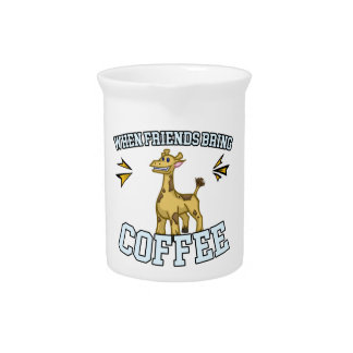 Coffee Culture - Coffee Snob - Funny Giraffe Beverage Pitcher