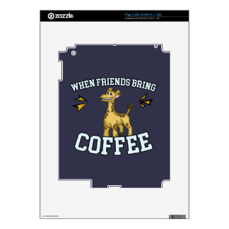 Coffee Culture - Coffee Snob - Funny Giraffe Skin For The iPad 2