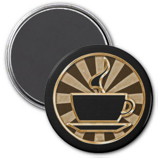 Coffee Cup 3 Inch Round Magnet