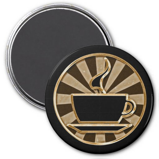 coffee cup 3 inch round magnet zazzle. Black Bedroom Furniture Sets. Home Design Ideas