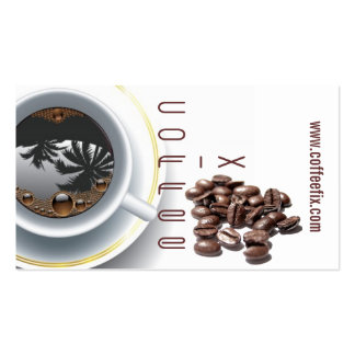 coffee cup and beans business card