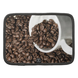 Coffee cup and beans planner
