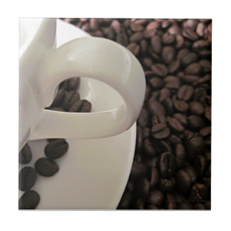 Coffee Cup and Beans Tile