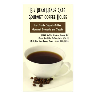 Coffee Cup and Java Beans Business Cards