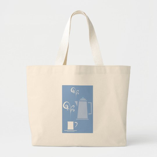 Coffee Cup and Pot Large Tote Bag