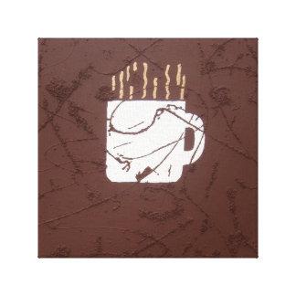 Coffee cup Art Canvas Print