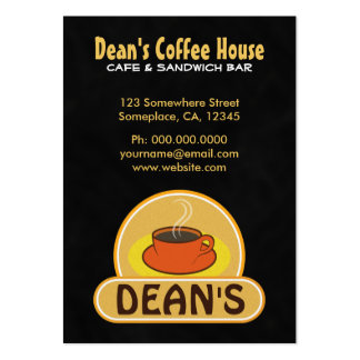 Coffee Cup Black Coffee Shop Cafe Business Cards