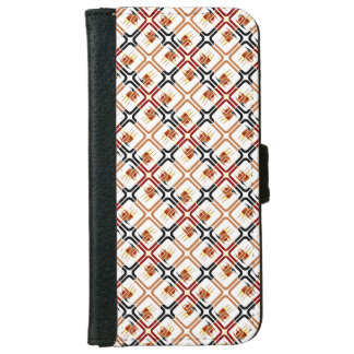 Coffee Cup Brown Red Black Mugs Drinks Java Brew Wallet Phone Case For iPhone 6/6s