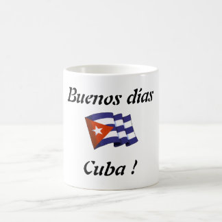 "Coffee cup ""Buenos dias Cuba "" Classic White Coffee Mug"