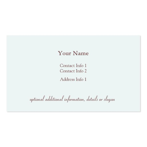 Coffee Cup Business Card (back side)