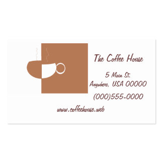 """Coffee Cup"" Business Cards"