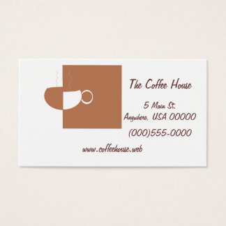 """""""Coffee Cup"""" Business Cards"""