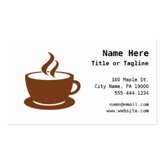 Coffee Cup Cafe Business Card
