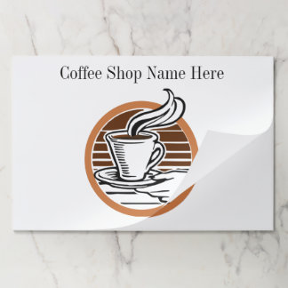 Coffee Cup Cafe Store Name Custom Color Mat