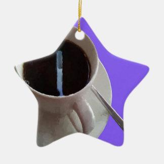 Coffee Cup Ceramic Ornament