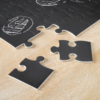 COFFEE CUP CHALK JIGSAW PUZZLE
