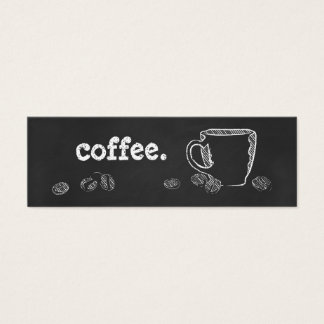 COFFEE CUP CHALK MINI BUSINESS CARD