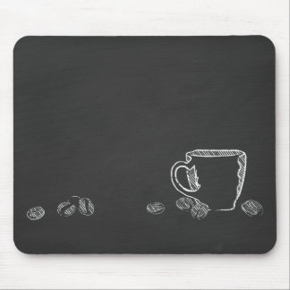 COFFEE CUP CHALK MOUSE PAD