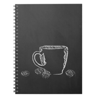 COFFEE CUP CHALK NOTEBOOK