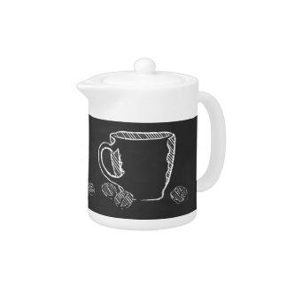 COFFEE CUP CHALK TEAPOT