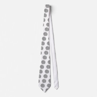 Coffee Cup Charcoal Scribble Neck Tie